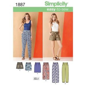 Simplicity kaava S1887 Easy Pants and Skirts