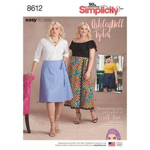 Simplicity kaava S8612 Womens Easy Wrap Skirts