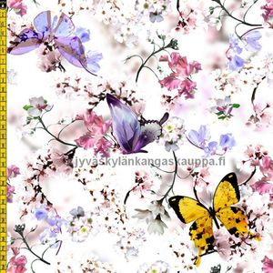 Digiprintti trikoo Summer Butterflies