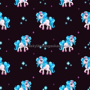 Digiprintti trikoo Cute Pony