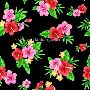 Digiprintti trikoo Tropical FLOWERS