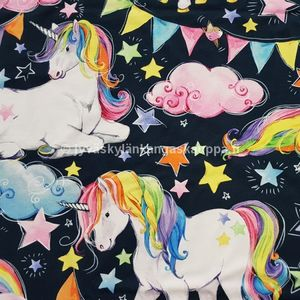 Digiprintti trikoo Unicorn Multicolour (50cm valmispala)