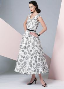 Vogue kaava V1172 V-NECK DRESS AND BELT