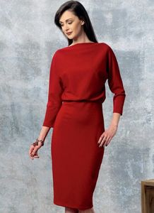 Vogue kaava V1460 RAISED-NECKLINE DRESS