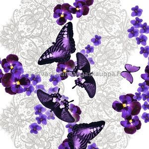 Digiprintti trikoo Violet Lace Butterfly