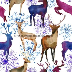 Digiprintti trikoo Water Colour Deer