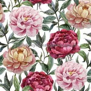 Digiprintti trikoo Water Colour Peony
