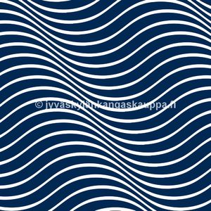 Digiprintti trikoo Blue Waves