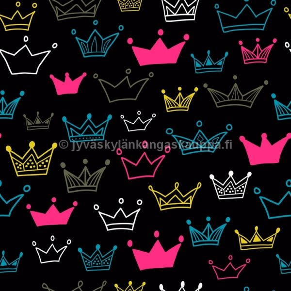 Digiprintti trikoo Princess Crown