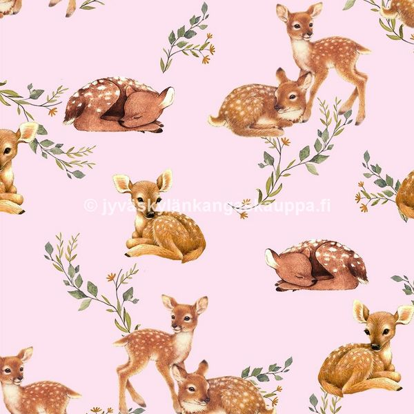 Digiprintti trikoo Bambi Friends