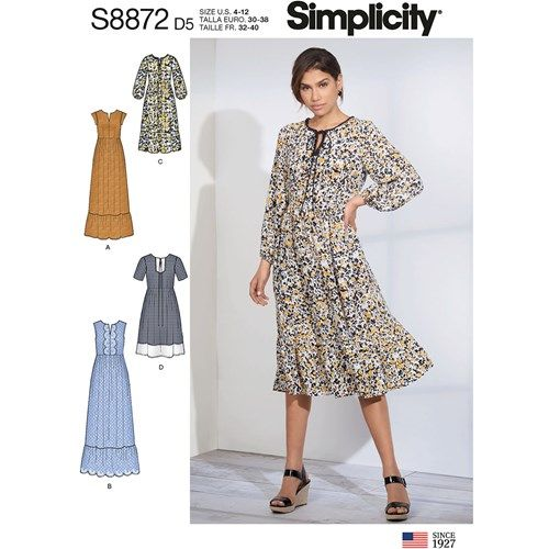 Simplicity kaava S8872 Pullover Dress