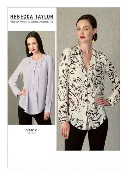 Vogue kaava V1412 GATHERED TOPS