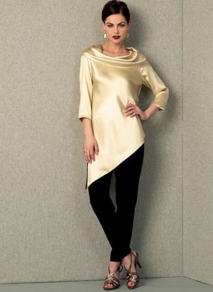 Vogue kaava V1415 COWL-NECK TUNICS AND PANTS
